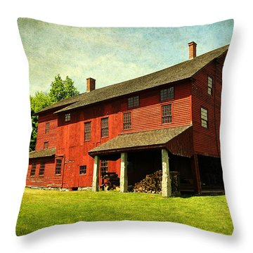 Shaker Village Barn Throw Pillow