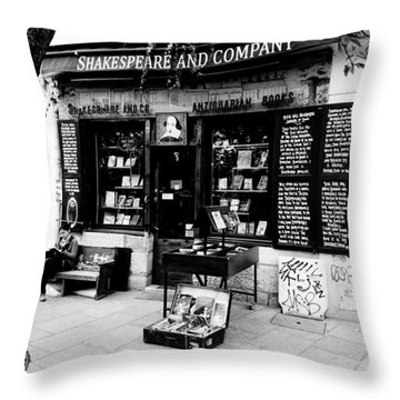 Shakespeare And Company Boookstore In Paris France Throw Pillow