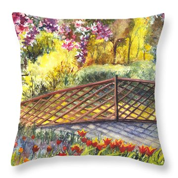 Shakespeare Garden Central Park New York City Throw Pillow by Carol Wisniewski