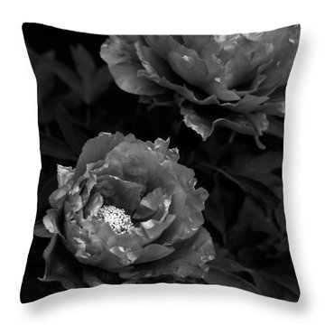 Throw Pillow featuring the photograph Shakuyaku by Rachel Mirror