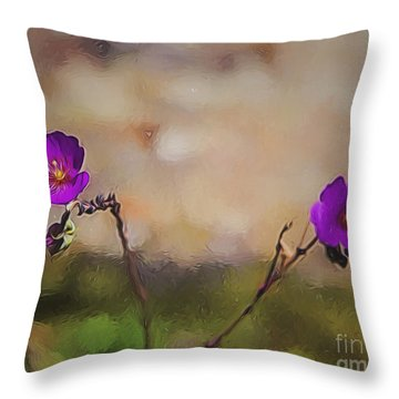 Throw Pillow featuring the photograph Shall We Dance  ... by Chuck Caramella