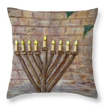 Chanukah Of Peace Throw Pillow