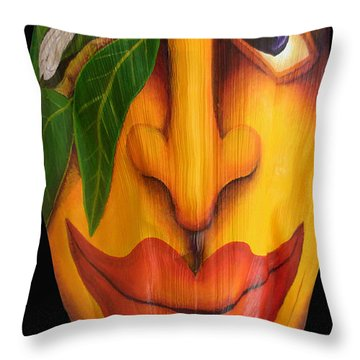 Throw Pillow featuring the painting Shama Shadow by Anna Skaradzinska
