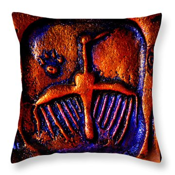 Shamanic Desert Throw Pillow by Susanne Still