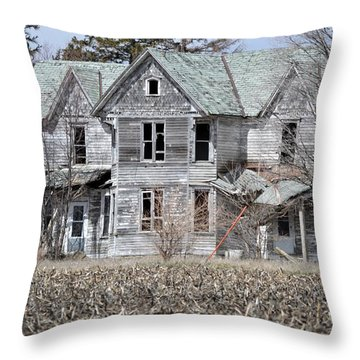 Shame Throw Pillow by Bonfire Photography