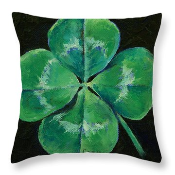 Shamrock Throw Pillow by Michael Creese
