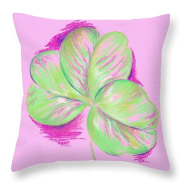 Shamrock Pink Throw Pillow by MM Anderson