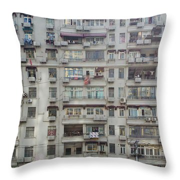 Shanghai Homes Throw Pillow by Andre Distel