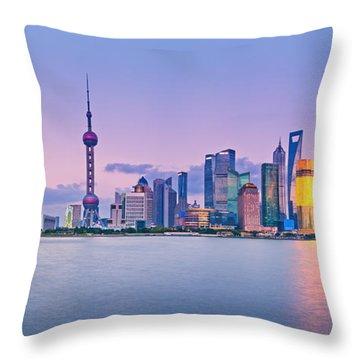 Shanghai Pudong Skyline  Throw Pillow