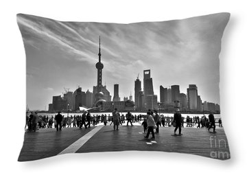 China Town Throw Pillows