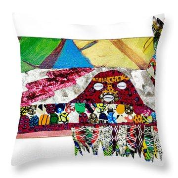 Shango Firebird Throw Pillow