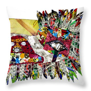 Shango Firebird Throw Pillow