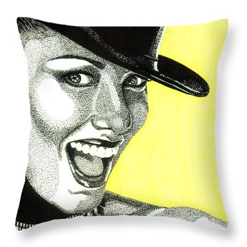 Shania Twain Throw Pillow
