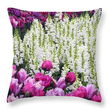 Throw Pillow featuring the photograph Shape Of Flowers by Yue Wang