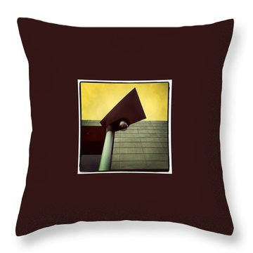 Shapely Light Throw Pillow by Hans Fotoboek
