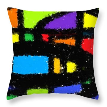 Shapes 18 Throw Pillow by Chris Butler