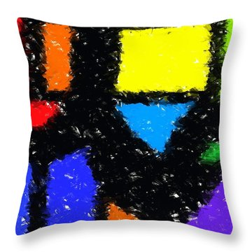 Shapes 8 Throw Pillow by Chris Butler