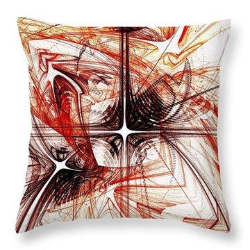 Shapes And Symbols Throw Pillow by Anastasiya Malakhova