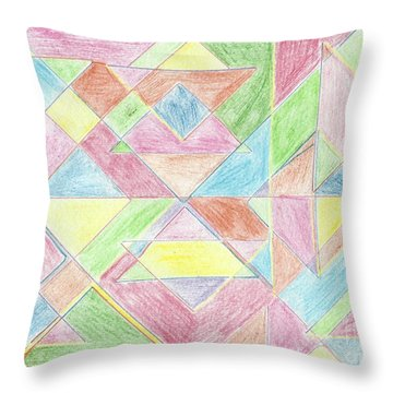 Shapes Of Colour Throw Pillow