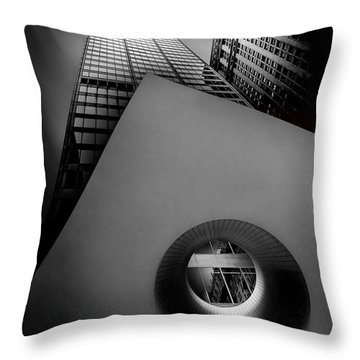 Shaping The Skyline Throw Pillow