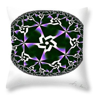 Shards Of Twiliths Throw Pillow by Danuta Bennett