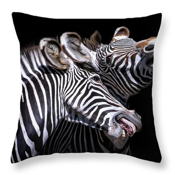 Sharing A Laugh Throw Pillow