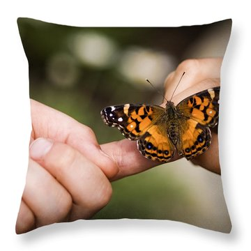 Sharing Throw Pillow by Adam Romanowicz
