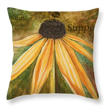 Throw Pillow featuring the painting Sharing by Lisa Fiedler Jaworski