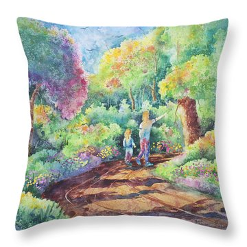 Sharing The Journey Throw Pillow by Michael Bulloch