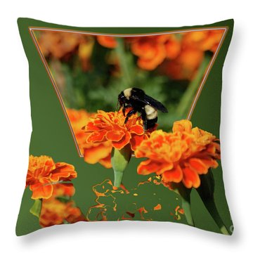 Throw Pillow featuring the photograph Sharing The Nectar Of Life by Thomas Woolworth