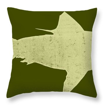 Shark Throw Pillow by Michelle Calkins