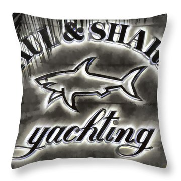 Shark Sign Throw Pillow