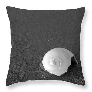 Shark's Eye In The Sand Throw Pillow