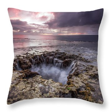 Sharks Mouth Cove Throw Pillow