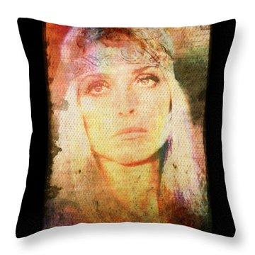 Sharon Tate - Angel Lost Throw Pillow