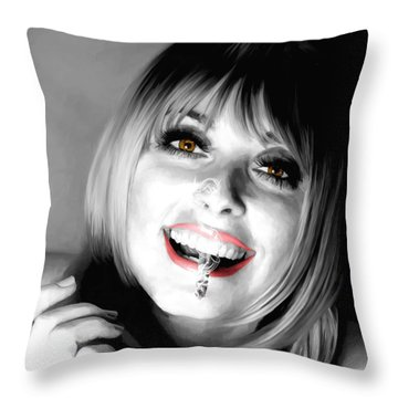 Sharon Tate Large Size Portrait Throw Pillow