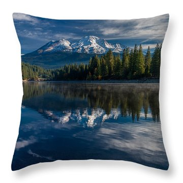 Shasta And Lake Siskiyou Throw Pillow