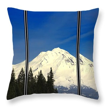 Throw Pillow featuring the photograph Shasta by Athala Carole Bruckner