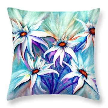 Shasta Daisy Dance Throw Pillow