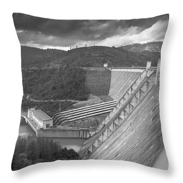 Shasta Lake Dam Throw Pillow
