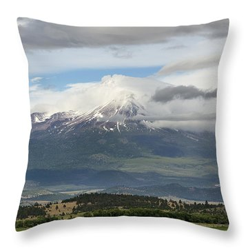 Shasta W Clouds Throw Pillow