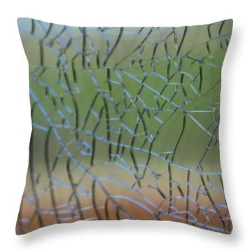 Throw Pillow featuring the photograph Shattered by Amber Kresge