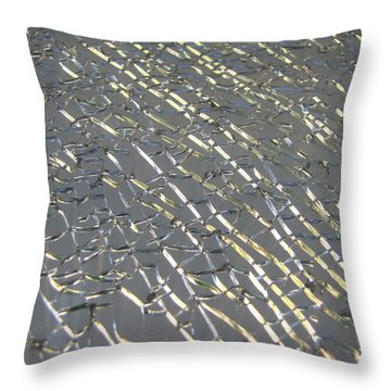Throw Pillow featuring the photograph Shattered by Beth Vincent