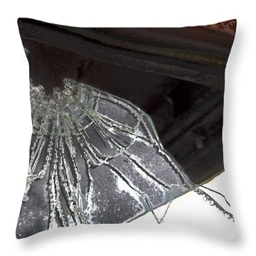 Throw Pillow featuring the photograph Shattered by Lynn Sprowl