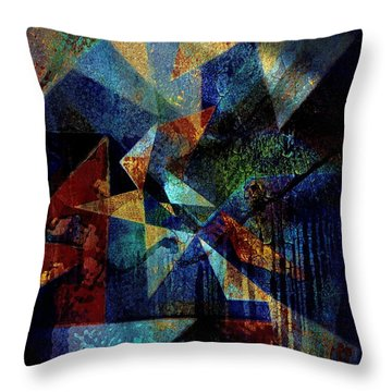 Shattered Reflections Throw Pillow