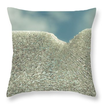Shattered Summer Day Throw Pillow