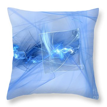 Throw Pillow featuring the digital art Shattered by Victoria Harrington