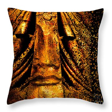 Shattering The Illusion Of Eternity  Throw Pillow by Nola Lee Kelsey