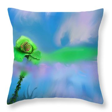 Shawna's Rose Throw Pillow