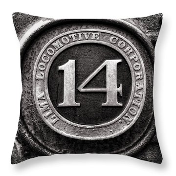 Shay 14 Lima Locomotive Number Plate Throw Pillow by Ken Smith